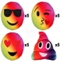 Pillow Rainbow Emoticon Emoji-Con, Set each Motif 5 pieces